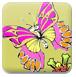 给漂亮蝴蝶填颜色