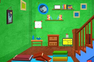 【逃出漂亮的绿房子】逃出漂亮的绿房子小游戏_逃出的