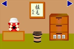 逃出日本新年房间