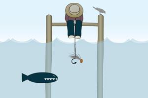 稻草人钓鱼