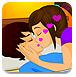 卧室情侣接吻