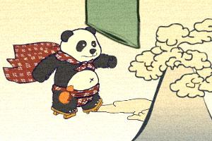 飞扬的熊猫