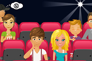 电影院情侣