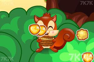 小松鼠吃爆米花