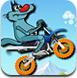 小灰狼骑摩托
