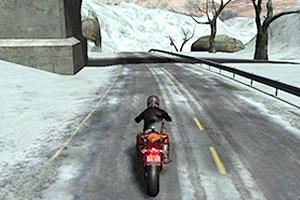 冬季摩托车手