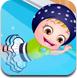 可爱宝贝学游泳