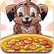 可爱小狗做披萨
