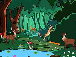 森林动物逃生图片