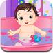 顽皮的宝宝洗澡