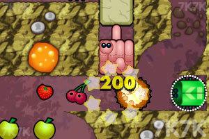 小刺猬吃水果
