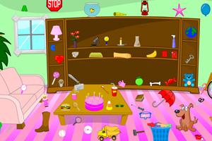 小狗弄乱的粉红别墅