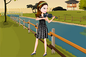装扮小提琴乐家