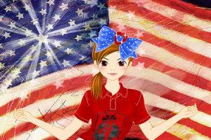 美国独立日旗装