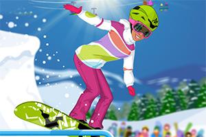 极限滑雪女生