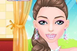 【时尚的牙套女孩】时尚的牙套女孩小游戏_时尚的牙套图片