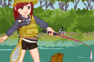 钓鱼的艾丽