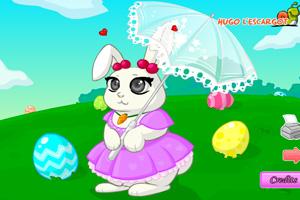 复活节兔子打扮