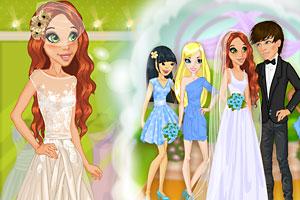 时尚新娘穿婚纱