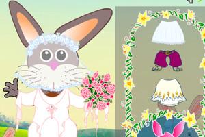 复活节兔子装扮