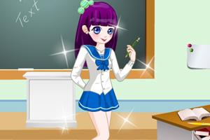 可爱的高中女生装扮