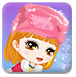 可爱女孩打雪仗