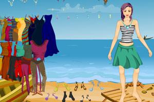 穿上美衣去海滨